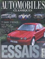 AUTOMOBILES CLASSIQUES n°114 JUIN 2001 JAGUAR XTYPE BMW Z8 CHRYSLER LMP1 EB112