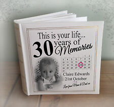 "Personalised large photo album, 200 x 6x4"" photos, 30th birthday memories gift"