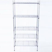 5 Tier Layer Garage Wire Steel Rack Shelving Steel Home HeavyDuty Storage Shelf