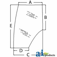 344730A2 Ford/ New Holland, Case Magnum Tractor Door Glass,  MX200 MX210 TG245