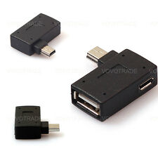 Mini USB 2.0 OTG Host Adapter with USB Power for Cell Phone Tablet