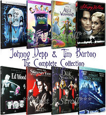 Johnny Depp & Tim Burton The Complete Series DVD Movie Collection Box Set(s) NEW