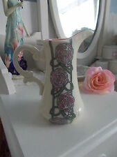 ART DECO VINTAGE RETRO RENNIE MACKINTOSH ROSE FLOWER ART DECO VASE JUG PORCELAIN