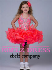 Beaded Little Kids Children Girls Mini Party Pageant Dresses Ball Gowns Cupcakes