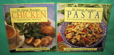 2 Cookbooks 50 Great Recipes Pasta Chicken Light Healthy Wadey Blakemore 1997