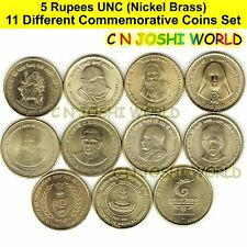 Very Rare 51 Different Copper Nickel 1 + 2 + 5 Rupees Commemorative Coins Set