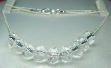 "Sex & the City 8x10mm Crystal Bead  Silver Plated Chain 20"" Necklace"