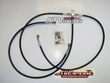 """STREAMLINE 3"""" FRONT BRAKE LINES LINE KIT ATV BLACK CAN-AM DS650 DS 650 2000-2007"""