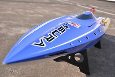 70-75km/h H750 Shark RC Fiber Glass Electric Brushless Boat KIT Model Blue