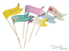 Vintage Canape Sticks/Food Flags/Cake Picks-FULL TRULY SCRUMPTIOUS RANGE IN SHOP