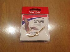 EAGLE CLAW HAT HOOK NEW! Hat Pin/Tie Clasp 155A Plated 24kt Gold