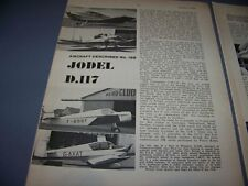 VINTAGE..JODEL D.117 HISTORY...3-VIEWS/DETIALS/DATA..RARE! (66L)
