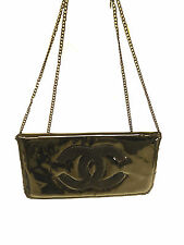 Chanel VIP Patent Black WOC Purse Hardware Chain Authentic CC Handbag Clutch New