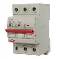 100AMP - 3 Pole Isolator Switchboard - Din Rail mount - Main Switch
