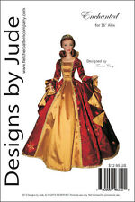 """Enchanted Doll Clothes Sewing Pattern for 16"""" Fashion Alex Madame Alexander"""