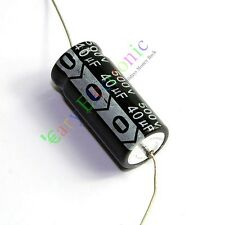 10pcs 500V 40uf 105C New long leads Axial Electrolytic Film Capacitor audio amps