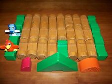 Parts MY FIRST LINCOLN LOGS FARM SET 28 Jumbo Wood Pieces K'nex 2005