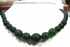 AAA+ NEW 6-14mm 100% natural jade necklace 18 ""