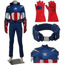 Superhero Movie The Avengers 1 Captain America Cosplay Costume Steve Adult Suits
