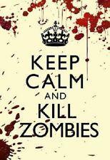 (24x36) Keep Calm and Kill Zombies Humor art Print Poster Apocalypse hunter