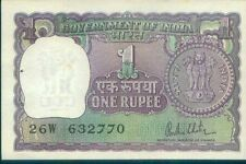 #272a India UNC GEM ▬ One Rupee Note ▬ 1980 R.N. Malhotra ▬ Re 1 Currency