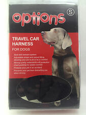 Options Travel Car Harness For Dogs SMALL Black Seat Belt Restraint New