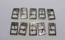 10 Quality Solid Nickel Bar Buckles fits 9 mm straps.Bag/Watch Hardware (B14)