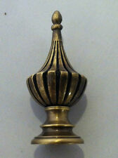 Antique Brass Finial Spiral Lamp Shade Top Topper Decor Light Burnished Style