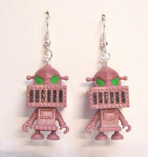 Steampunk Retro Bots B Movie Talk Box Alien Planet Robot Droid Dangle Earrings