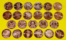 Set of 23 • All Different Coins • 1 oz each • .999 Fine Copper Bullion