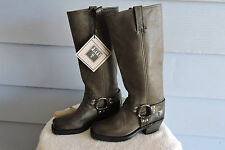 Women's Frye 12R Harness Motorcycle Boots Smokey Grey Size 6