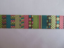 "Grosgrain Colourful Pattern Ribbon ***DIFFERENT STYLES AND COLOURS*** 7/8"" 22mm"
