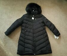 Calvin Klein winter down slim coat Faux Fur Trimmed Hooded Black 2016 XXL NWT!!!