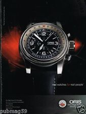Publicité advertising 2012 La Montre Oris Big Crown X1 Calculator