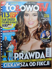 SALMA HAYEK on front cove TO & OWO TV Magazine 12/2015 in. Russell Crowe