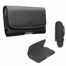 TMAN®  Leather holster carry pouch case for Samsung Galaxy J3 (All Carriers)