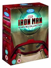 IRON MAN 3-MOVIE COLLECTION [Blu-ray Box Set] Complete 1-3 Trilogy Avengers