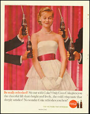 1960 Vintage ad for Coca-Cola/Prom dress/White/Pretty Blonde (031013)