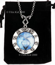 MORTAL INSTRUMENTS ANGELIC POWER RUNE NECKLACE SHADOWHUNTER PENDANT CLARY BLUE