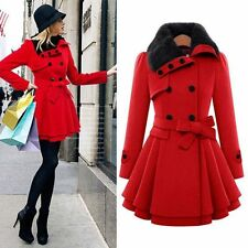 Womens Winter Warm Parka Trench Coat Jacket Ladies Lapel Outwear Long Overcoat