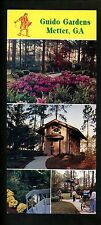 Oversized postcard Georgia GA Metter Guido Gardens Advertising Flowers Chapel