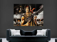 RAMBO FILM M60 MACHINE GUN ACTION ART HUGE LARGE  GIANT POSTER PRINT