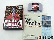 Complete Neon Genesis Evangelion Nintendo 64 Japanese Import N64 Boxed US Seller