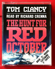 Tom Clancy The Hunt For Red October Jack Ryan 2-Tape Audio Book Richard Crenna