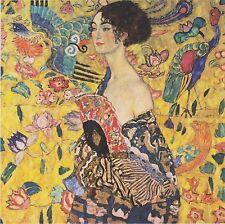 Lady with fan by Gustav Klimt Fine Art Giclee Canvas Print