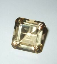 "Vintage Stone Large Stone Pale Topaz Color Faceted Stone 5/8"" Square Topaz ??"