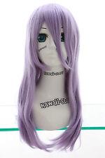 W-03-BC38 hell-lila purple 60cm COSPLAY Perücke WIG hitzefest glatt Anime Manga