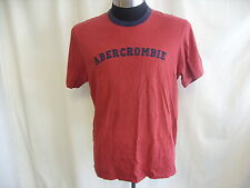 """Mens T-Shirt ABERCROMBIE & FITCH deep red XL chest 44-46"""" length 27"""" cotton 1696"""
