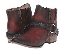 Freebird By Steven Clash Ankle Boots Wine Distressed Leather Size 9 NIB