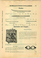 1910 PAPER AD American Spectacle Co Store Display Showcase Eyeglasses Goggles